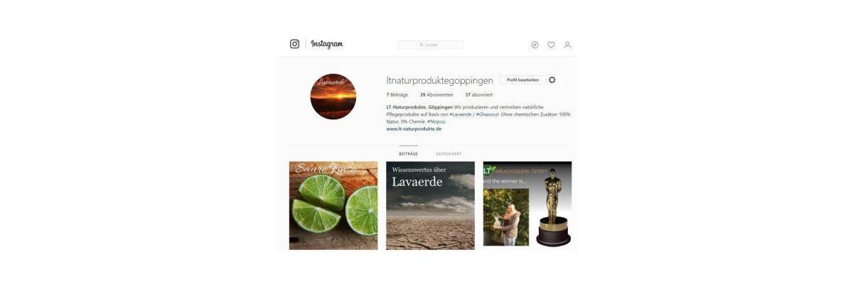 Jetzt auch auf Instagram -