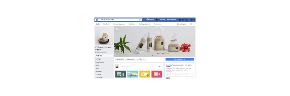 Facebook-Auftritt -
