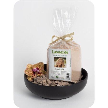 Lavaerde/Ghassoul | feines Pulver zur chemiefreien Haarwäsche, Körperpflege & Peeling | Original aus Marokko | 1 kg | vegan | Anti Schuppen