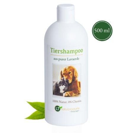 Bio-Tiershampoo, chemie- und seifenfrei, hypoallergen, gegen Juckreiz, mit original marokkanischer Lavaerde, 500 ml, PUR