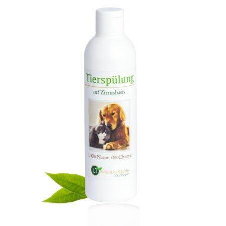 Tierspülung | Bio | sanfter Conditioner tensidfrei & silikonfrei | hypoallergen | auf Zitrusbasis | 250 ml | neuer Glanz für Kurz- und Langfell | Kämmhilfe Entfilzung