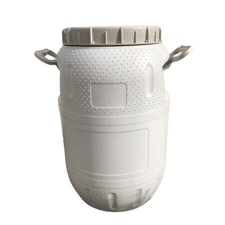 Tonne, Plastik (PET), 40l, mit 2 Haltegriffen - für Vorräte, Tierfutter, Camping, etc.