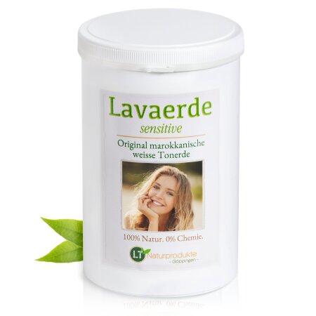 Lavaerde/Kaolin SENSITIVE | weißes, feines Pulver | Original aus Marokko | 1 kg | Zur chemiefreien Haarwäsche, Körperpflege & Peeling | Vegan | Anti Schuppen