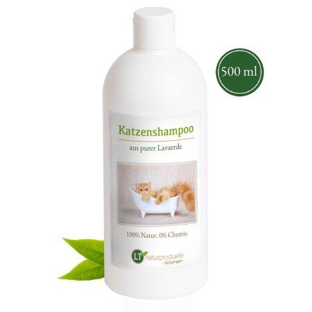 Katzenshampoo | Bio | sanfte Fellpflege ohne Chemie & Seife | gegen Juckreiz | hypoallergen | mit original marokkanischer Lavaerde | 500 ml | neuer Glanz für Kurz- und Langfell