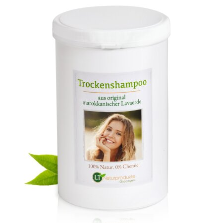 Trockenshampoo | Original aus Marokko | feines, dunkelbraunes Lavaerde-Pulver in Dose | 1 kg