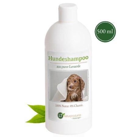 Hundeshampoo MAXI | Bio | sanfte Fellpflege ohne Chemie & Seife | gegen Juckreiz | hypoallergen | mit original marokkanischer Lavaerde | 500 ml | extra für große Hunde