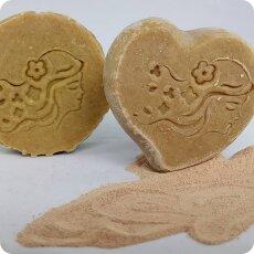 Haarseife Ghassoul | schäumende Haarseife aus unserer Original-Lavaerde | mit Bio-Avocadoöl | nur aus natürlichen Zutaten | vegan | 80 g