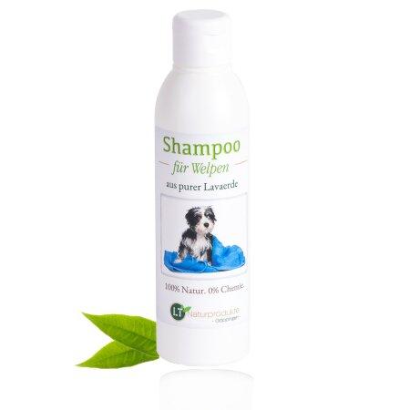 Welpenshampoo   Bio   sanfte Pflege für Hundewelpen ohne Chemie & Seife   gegen Juckreiz   hypoallergen   mit original weißer Lavaerde   250 ml