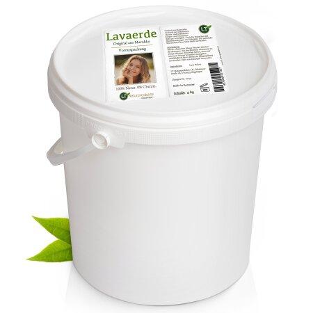 Lavaerde/Ghassoul | Original aus Marokko | 5kg Sparpaket | feines braunes Pulver zur chemiefreien Haarwäsche, Körperpflege & Peeling | vegan