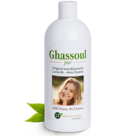 Lavaerde/Ghassoul Fertigmischung | mit original marokkanischer Tonerde | PUR | chemie- & seifenfrei | 500 ml | vegan & Bio | Wascherde Tonerde Heilerde