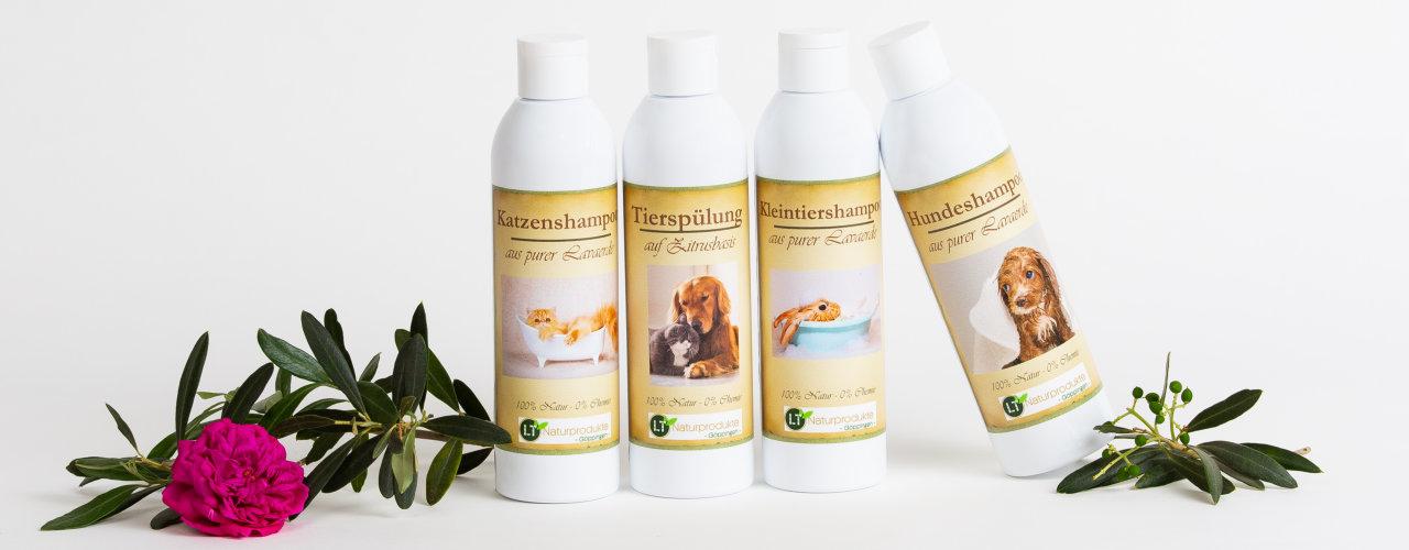 Tiershampoos und -pflegespülungen
